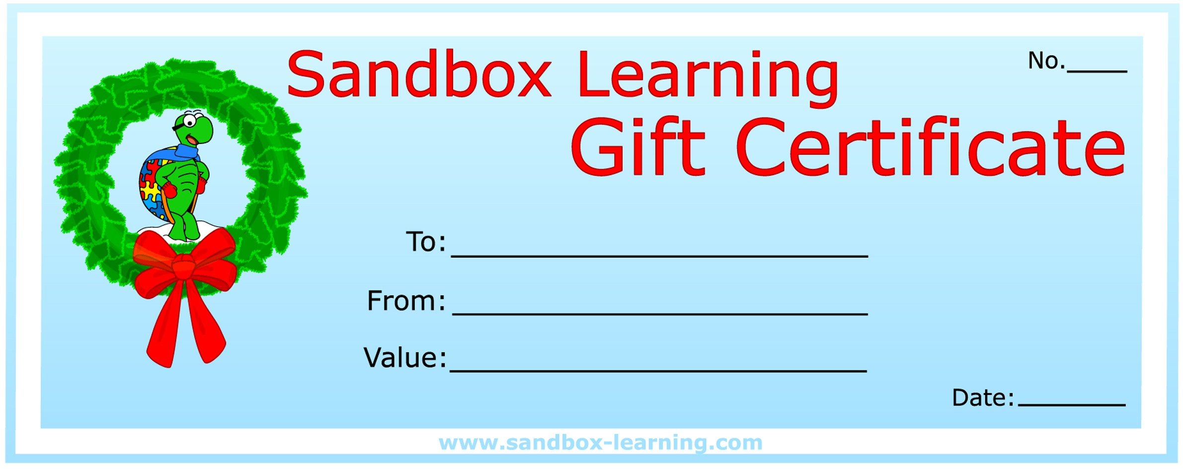 gift certificates sandbox learning gift certificates are the perfect solution for holiday birthday special occasion and thank you gift giving
